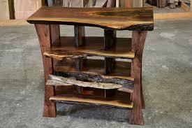 Live Edge Wood Shelves by Live Edge Cubby Shelves Walnut Corey Morgan