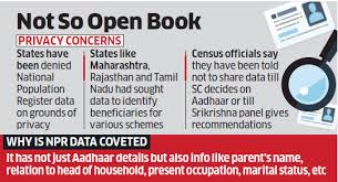 Seeking Npr National Population Register Npr Says No To States Seeking Access