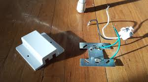 How To Wire Ceiling Lights by Electrical Installing A Fixture With No Ground No Ceiling Box