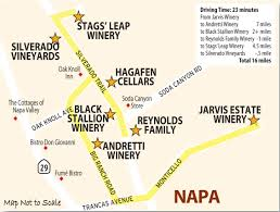 Map Of Napa Valley Oak Knoll Stags Leap Wine Country This Week Magazine Wineries