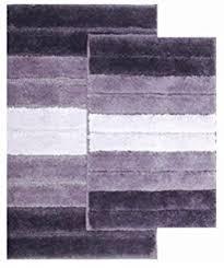amazon com 2 piece low pile plush bath rug set with moroccan