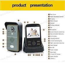 wireless doorbell system with light indicator wireless doorbell system door phone video peephole video doorphone