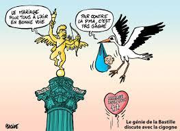 dessin humoristique mariage humour 125 000 à 400 000 partisans du mariage pour tous