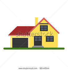 House With Garage House 1 Stock Vector 141603358 Shutterstock