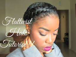natural hair protective styling halo tutorial youtube