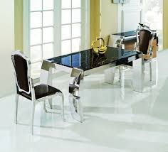 Black Marble Dining Room Table by Black Marble Dining Table With Stainless Steel Legs