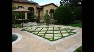 Laying Patio Slabs On Grass Formal Lawn Paving Steppers Youtube