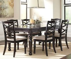 Black Dining Room Set Black Dinette Sets Harlstern Black Dining Set With Turned Legs