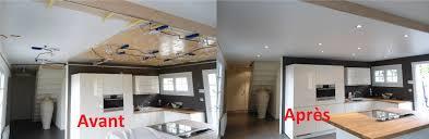 plafond de cuisine spots cuisine awesome eclairage plafond cuisine led view eclairage
