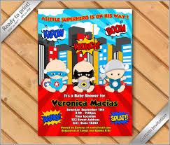 Superhero Invitation Card 50 Off Sale Super Heroes Baby Shower Invitation Super Hero