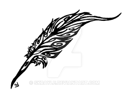 feather quill tribal by skrayle on deviantart