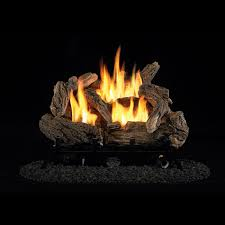 ventless gas logs duluth forge vent free dual fuel gas log set