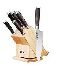 set couteau de cuisine set couteaux bloc de couteaux avec poignée en bois ergonomique