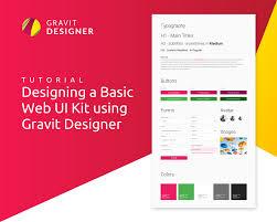 designing a basic web ui kit using gravit designer u2013 gravit