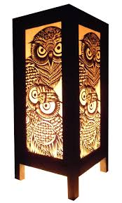 Vintage Owl Lights by Thai Vintage Handmade Asian Oriental Handcraft Lanna Night Owl