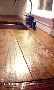 Wood Kitchen Countertops by 12 Diy Wooden Kitchen Countertops To Make Shelterness