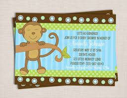 free printable monkey baby shower invitations free printable