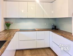 küche rückwand weisse glas küchenrückwand auf floatglas basis kgs