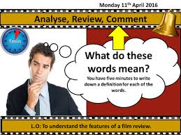 film review template by he4therlouise teaching resources tes