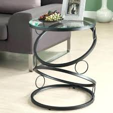 Black Glass Side Table Glass Tables For Living Room U2013 Thelt Co