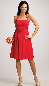 alfred angelo halter cocktail length bridesmaid dress 7016s
