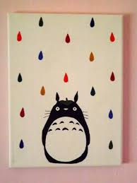 a simple totoro art canvas canvas ideas pinterest totoro a simple totoro art canvas