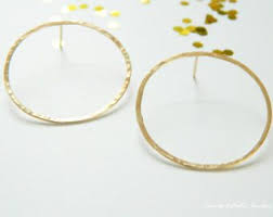 circle earrings open circle earrings etsy