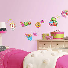Bedroom Wall Decals For Adults Roommates Shopkins Peel And Stick Wall Decals Walmart Com