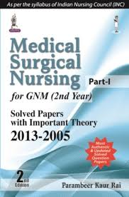 medical surgical nursing part 1 for gnm 2nd year solved