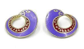 laurel burch earrings vintage laurel burch earrings in blue and