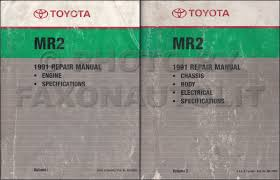 1991 toyota mr2 repair shop manual factory reprint 2 volume set