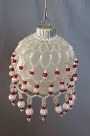 mardi gras beaded ornament cover royal by elegantperle
