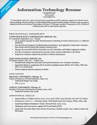 it resume template it resume sle musiccityspiritsandcocktail