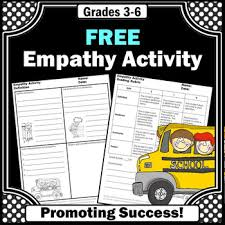 free empathy activities language arts vocabulary writing worksheets