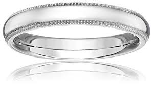 milgrain wedding band standard comfort fit platinum milgrain wedding band