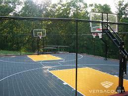 Backyard Tennis Court Cost Versacourt Backyard Basketball Court Photos U0026 Ideas