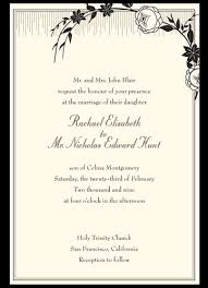 how to write a wedding invitation exles of wedding invitations gangcraft net