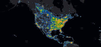 Usa Interactive Map by New Study Shows Extent Of Light Pollution Across The Night Sky
