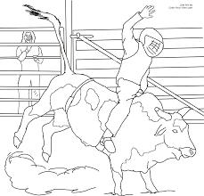 11 pics of cowboy bull riding coloring page bull riding coloring