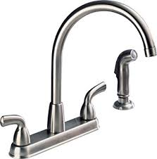 peerless kitchen faucet peerless p99578lf ss d choice two handle high arc kitchen faucet