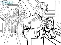 tron coloring pages coloring page