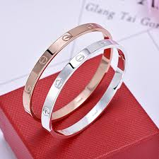 titanium bangle bracelet images Trendy crystal love bracelet for women titanium lover bracelets jpg
