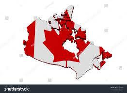 red white map canada canadian flag stock illustration 90625117