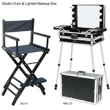 makeup artist supplies lighted makeup box and chair for makeup artist and visagiste