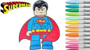lego superman coloring book superhero colouring pages kids