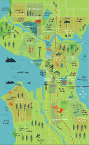 Seattle Topographic Map by 7 Best Seattle Neighborhood Maps Images On Pinterest Seattle A