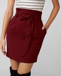 high waisted skirts high waisted soft crepe sash waist skirt express