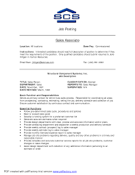 Resume For Sales Sales Associate Responsibilities Resume Free Resume Example And