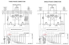 wiring diagram 3 phase automatic transfer switch circuit diagram