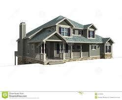 3d model of one level house royalty free stock images image 2176949